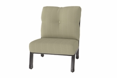 The Cadence Collection Commercial Cast Aluminum Armless Center Stationary Club Chair