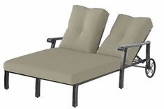 The Cadence Collection Commercial Cast Aluminum Double Chaise Lounge