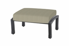 The Cadence Collection Commercial Cast Aluminum Ottoman