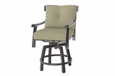 The Cadence Collection Commercial Cast Aluminum Swivel Bar Height Chair