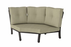 The Cadence Collection Commercial Cast Aluminum Three Back Corner Chair