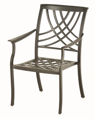 The Columbia Collection Commercial Cast Aluminum Stationary Dining Chair