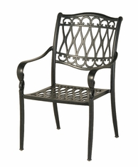 The Carrington Collection Commercial Cast Aluminum Stationary Dining Chair