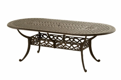The Caprice Collection Commercial Cast Aluminum Oval Dining Table