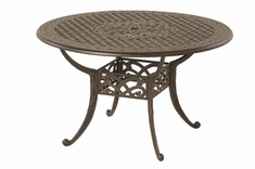 The Caprice Collection Commercial Cast Aluminum Round Dining Table