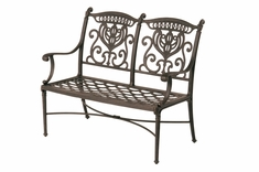 The Cayman Collection Commercial Cast Aluminum Bench