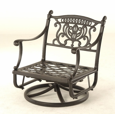 The Cayman Collection Commercial Cast Aluminum Club Swivel Glider Chair