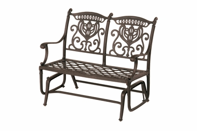 The Cayman Collection Commercial Cast Aluminum Double Glider