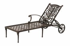 The Cayman Collection Commercial Cast Aluminum Single Chaise Lounge