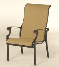 The Cayman Collection Commercial Cast Aluminum Sling Stationary Dining Chair