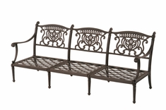The Cayman Collection Commercial Cast Aluminum Sofa