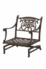 The Cayman Collection Commercial Cast Aluminum Spring Base Club Chair