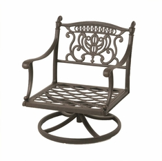 The Cayman Collection Commercial Cast Aluminum Swivel Club Chair