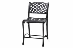 The Chaya Collection Commercial Cast Aluminum Stationary Counter Height Chair