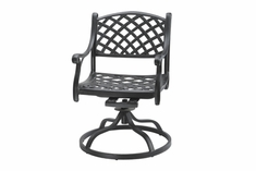 The Chaya Collection Commercial Cast Aluminum Swivel Dining Chair