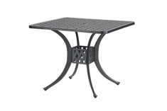 "The Claret Collection Commercial Cast Aluminum 30"" Square Dining Table"