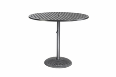 "The Claret Collection Commercial Cast Aluminum 36"" Round Pedestal Counter Height Table"