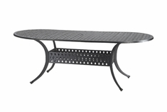 "The Claret Collection Commercial Cast Aluminum 42"" x 72"" Oval Dining Table"