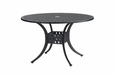 "The Claret Collection Commercial Cast aluminum 48"" Round Dining Table"