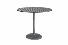 "The Claret Collection Commercial Cast Aluminum 48"" Round Pedestal Counter Height Table"