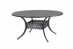 "The Claret Collection Commercial Cast Aluminum 54"" Round Dining Table"