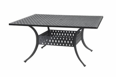 "The Claret Collection Commercial Cast Aluminum 60"" Square Dining Table"