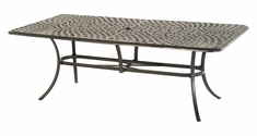 "The Columbia Collection Commercial Cast Aluminum 42"" x 84"" Rectangle Dining Table"