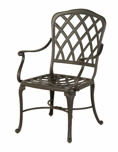 The Cason Collection Commercial Cast Aluminum Stationary Dining Chair