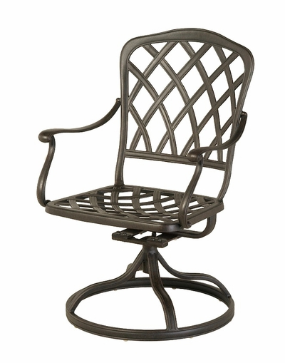 The Cason Collection Commercial Cast Aluminum Swivel Dining Chair