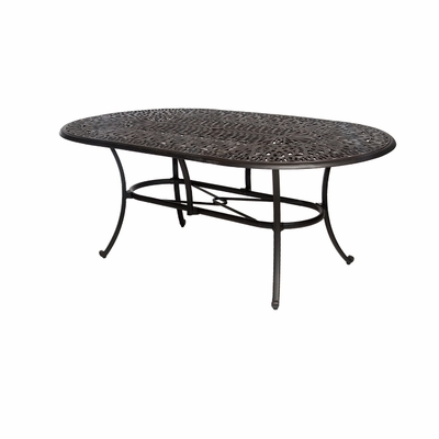 The Del Mar Collection Commercial Cast Aluminum 42 x 72 Oval Dining Table
