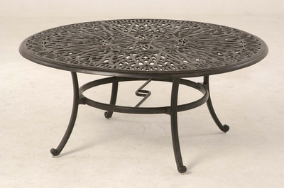 """The Del Mar Collection Commercial Cast Aluminum 48"""" Round Dining Table"""