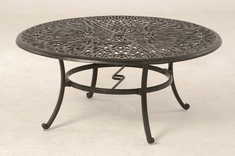 "The Del Mar Collection Commercial Cast Aluminum 48"" Round Dining Table"