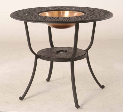 """The Del Mar Collection Commercial Cast Aluminum 48"""" Round Pedestal Bar Height Beverage Table"""