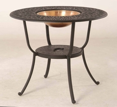 "The Del Mar Collection Commercial Cast Aluminum 48"" Round Pedestal Bar Height Beverage Table"