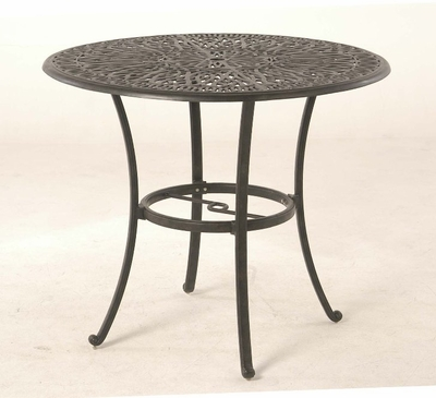 "The Del Mar Collection Commercial Cast Aluminum 48"" Round Pedestal Bar Height Table"