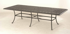 "The Del Mar Collection Commercial Cast Aluminum 48"" x 110"" Rectangle Dining Table"