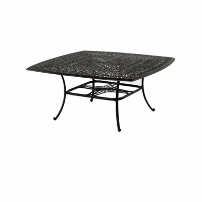 """The Del Mar Collection Commercial Cast Aluminum 64"""" Square Dining Table"""