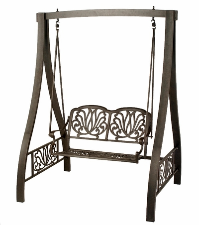 The Del Mar Collection Commercial Cast Aluminum Glider Swing