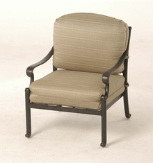 The Del Mar Collection Commercial Cast Aluminum Stationary Club Chair