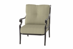 The Devonte Collection Commercial Cast Aluminum Stationary Club Chair