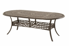 The Farah Collection Commercial Cast Aluminum Oval Dining Table