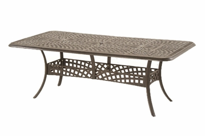 The Farah Collection Commercial Cast Aluminum Rectangle Dining Table