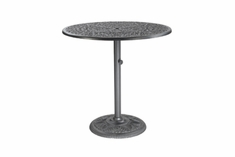 "The Floria Collection Commercial Cast Aluminum 42"" Round Pedestal Bar Height Table"