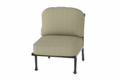 The Floria Collection Commercial Cast Aluminum Armless Stationary Club Chair