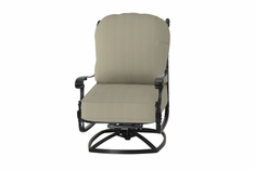 The Floria Collection Commercial Cast Aluminum High Back Swivel Club Chair