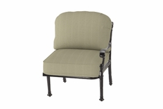 The Floria Collection Commercial Cast Aluminum Left Arm Stationary Club Chair