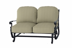 The Floria Collection Commercial Cast Aluminum Loveseat Glider