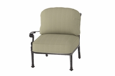 The Floria Collection Commercial Cast Aluminum Right Arm Stationary Club Chair