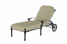 The Floria Collection Commercial Cast Aluminum Single Chaise Lounge