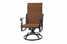 The Floria Collection Commercial Padded Sling High Back Swivel Dining Chair